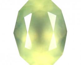 Prehnite 3.42 Cts Green Signature Geo Cut BGC2146