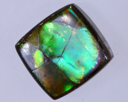 10x10mm,  5.10cts Natural Canadian Ammolite Stone / MA1738