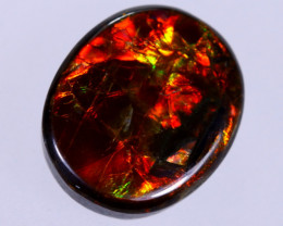 11x9mm,  4.41cts Natural Canadian Ammolite Stone / MA1740