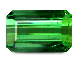 Tourmaline 1.87 Cts Vivid Green Step Cut BGC1967