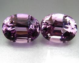 Kunzite Pair 26.1 Cts Purple Pink Antique Step Cut BGC1940
