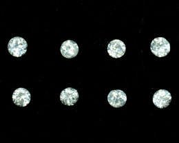 1.02 Cts Natural White Zircon 3.00 mm Diamond Cut Parcel