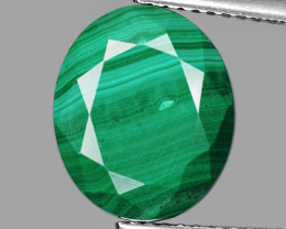 """*NoReserve* LOVELY 7.37 Cts """"AAA"""" GREEN MALACHITE"""