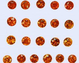 5.05 Cts Natural Fanta Orange Spessartite Garnet Round 3.50mm  Namibia