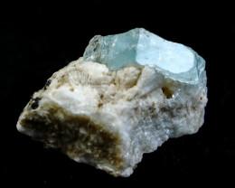 NR!!! 248.35 Cts Natural & Unheated~ Blue Aquamarine Specimen