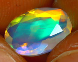 Welo Opal 1.13Ct Natural Ethiopian Play of Color Opal D2019/A44