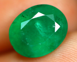 Emerald 2.40Ct Oval Cut Natural Zambian Green Color Emerald C1929