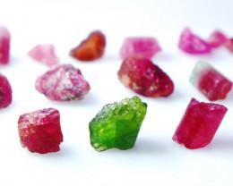 114 CT Natural - Unheated Pink Tourmaline Rough Lot