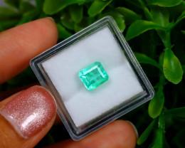 1.65Ct Colombian Muzo Emerald Neon Mint Green Beryl EM03