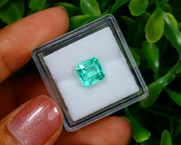 1.69Ct Colombian Muzo Emerald Neon Mint Green Beryl EM06