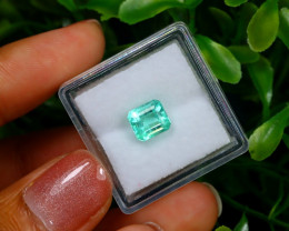 1.48Ct Colombian Muzo Emerald Neon Mint Green Beryl EM07
