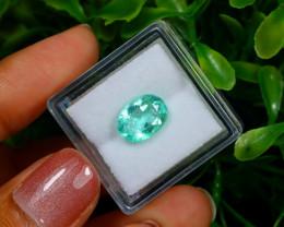 2.37Ct Colombian Muzo Emerald Neon Mint Green Beryl EM08
