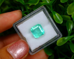 2.77Ct Colombian Muzo Emerald Neon Mint Green Beryl EM09