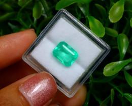 2.58Ct Colombian Muzo Emerald Neon Mint Green Beryl EM14