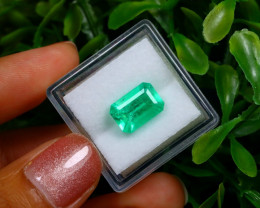 2.86Ct Colombian Muzo Emerald Neon Mint Green Beryl EM16