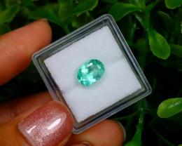 1.45Ct Colombian Muzo Emerald Neon Mint Green Beryl EM27