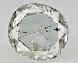 0.71 cts , Multi Color natural Inclusions , Round Rose Cut