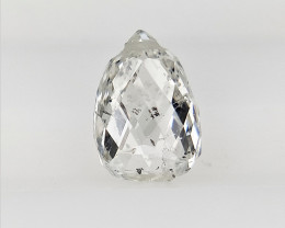 0.50 cts White Briolette for Jewelry , Unholed Briolette for Jewelry