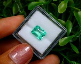 2.00Ct Colombian Muzo Emerald Neon Mint Green Beryl B1113