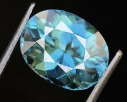 4.52 CT ZIRCON BLUE 100% NATURAL UNHEATED MINE CAMBODIA