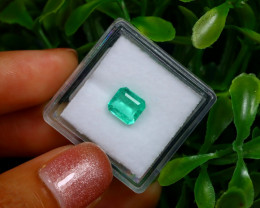 1.11Ct Colombian Muzo Emerald Neon Mint Green Beryl B1135