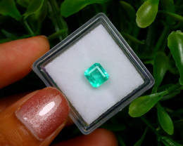 0.94Ct Colombian Muzo Emerald Neon Mint Green Beryl EM61