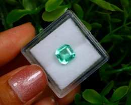 1.44Ct Colombian Muzo Emerald Neon Mint Green Beryl B1129