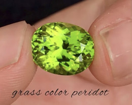 6.10 Carat Natural Grass Color Peridot Gemstone