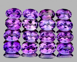 5x3 mm Oval 16 pieces 3.55cts Purple Amethyst [VVS}