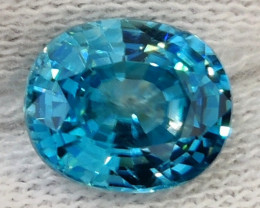 2.50 CTS  EXTREME OVAL NATURAL RARE BLUE ZIRCON EXCELLENT