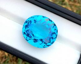 45.35 cts Electric Blue Topaz Gemstone