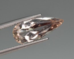 Natural Imperial Topaz 3.67 Cts Faceted Gemstone from Katlang, Pakistan