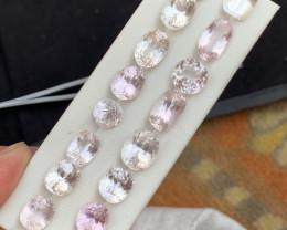 61.20 carats Kunzite gemstones parcel