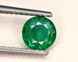 0.76Carat Top Green Emerald Transparent Cut Gemstone