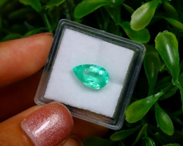2.01Ct Colombian Muzo Emerald Neon Mint Green Beryl EM93