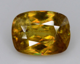 Rare AAA Astonishing Fire 1.45 ct Chrome Sphene.AaQ