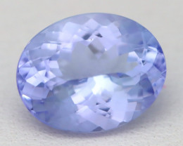 Tanzanite 2.70Ct VVS Oval Cut Natural Purplish Blue Tanzanite B2107