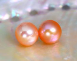 7.8mm 7.01Ct Natural Australian South Sea Orange Color Pearl B2109