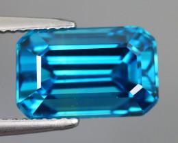 10.730 CT ZIRCON BLUE 100% IF CLEAN NATURAL MINE COMBODIA