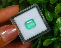 1.58Ct Octagon Cut Colombian Muzo Emerald Neon Mint Green Beryl B2121