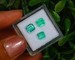 1.50Ct Colombian Muzo Emerald Neon Mint Green Beryl Lot B2128