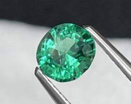 High End Quality Afghanistan Panjshir Vivid Green Lustrous Emerald  0.55 Ct