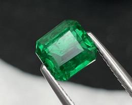 1.49Cts Rare Quality Afghanistan Panjshir Natural Vivid Green Color Emerald