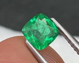 Afghanistan Panjshir Fine Grade Vivid Green Natural Emerald 0.56 Cts
