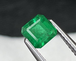 Afghanistan Panjshir Top Vivid Green Color Natural Emerald 0.67 Cts