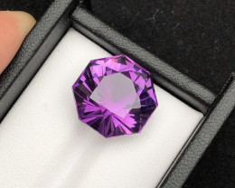 Top Grade 15.05 ct Fancy Natural Color Amethyst Ring Size