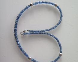 NEW ARRIVAL BLUE TANZANITE NECKLACE   490mm