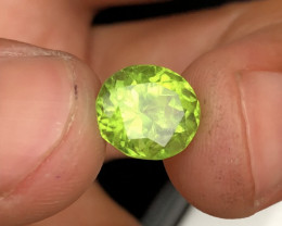 Deep Color 4.20 ct lovely Peridot Pair Ring Size