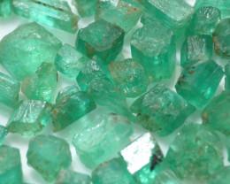 112Ct Natural Emerald Facet Rough Parcel
