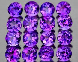 4.00 mm Round 16 pieces 3.78cts Purple Amethyst [VVS]